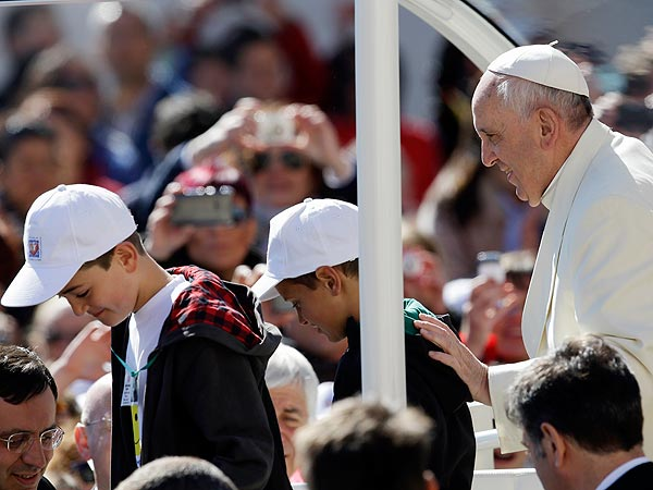 The Pope Gives 2 School Kids a Ride in St. Peter's Square | Pope Francis