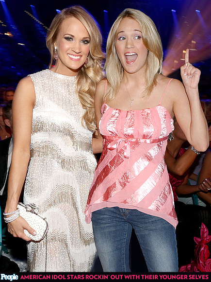 American Idol Stars Rockin' Out with Their Younger Selves| American Idol, American Idol, Carrie Underwood, Clay Aiken, Jennifer Hudson, Jordin Sparks, Kelly Clarkson, Paula Abdul, Simon Cowell, Steven Tyler, Musician Class