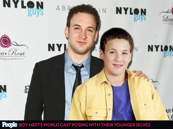See the Cast of Boy Meets World Posing with Their Younger Selves| Girl Meets World, Boy Meets World, TV News, Ben Savage, Danielle Fishel