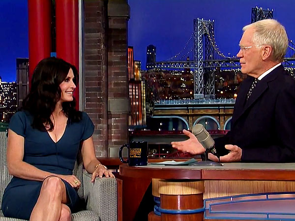 Courteney Cox Nixes Friends Reunion on Letterman