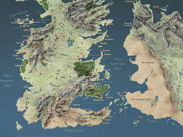 Fan-Made Game of Thrones Map Offers Interactive Look at Westeros| Game of Thrones