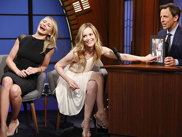 Cameron Diaz and Leslie Mann Show Off Their Hilarious Kate Upton Prank (VIDEO) | Cameron Diaz, Leslie Mann, Seth Meyers