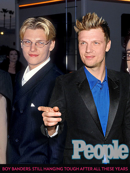 Backstreet Boys' Millennium Turns 15: See Nick Carter and Other Boy Band Hunks Posing with Their Younger Selves| Bobby Brown, Donnie Wahlberg, Joe Jonas, Justin Timberlake, Nick Carter, Nick Lachey, Ricky Martin, Zac Hanson, Musician Class, Media Product Types