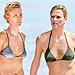 Stars Make a Splash in Bikinis Then & Now   Charlize Theron