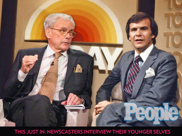 This Just In: Newscasters Interview Their Younger Selves| The View, Al Roker, Anderson Cooper, Barbara Walters, Connie Chung, Dan Rather, Diane Sawyer, Katie Couric, Matt Lauer, Tom Brokaw, TV Shows, Showbiz Today