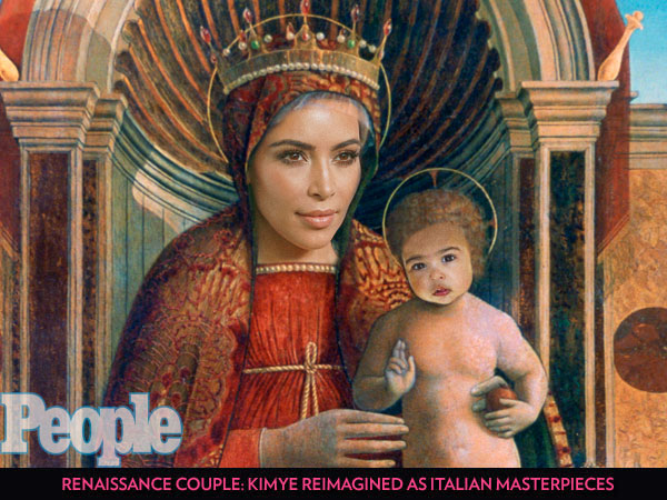 Works of Art: Kim and Kanye Transformed into the Italian Renaissance Paintings They Love| Weddings, Kanye West, Kim Kardashian
