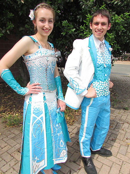 Stuck on You: Teens Create Prom Attire Made Completely of Duct Tape| Real People Stories
