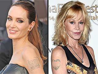 Before & After: 7 Celebs Who Have Removed Their Ex-Themed Tattoos | Angelina Jolie