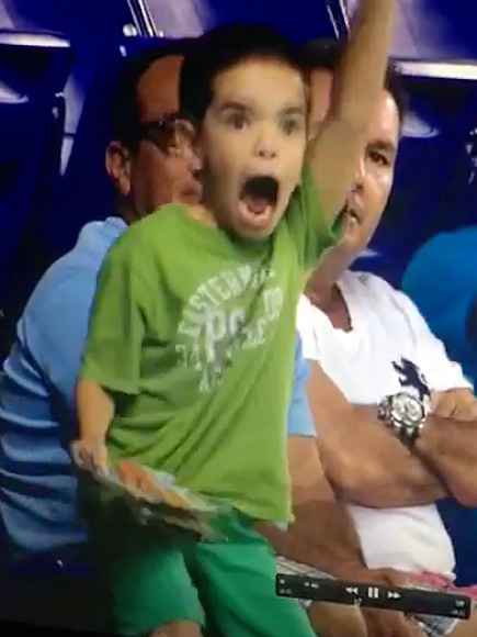 Vine of Kid Going Crazy at Miami Marlins Game