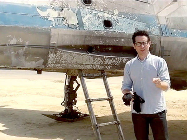 J.J. Abrams Ignores Alleged Star Wars Plot Leak, Poses with X-Wing to Promote New Charity (VIDEO)