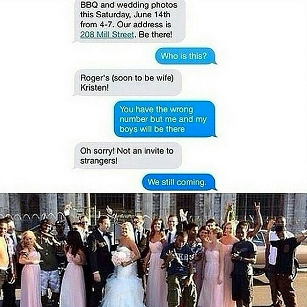 #WeStillComing: Bride's Accidental Text Leads to Trending Wedding Photo