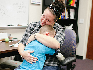Six-Year-Old Boy Hugs His Mom for the First Time with a 3-D-Printed Robot Arm