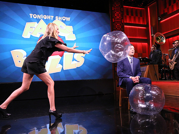 Mug Shot! Jimmy Fallon & Julia Roberts Fling Balls at Each Other's Faces | The Tonight Show, Jimmy Fallon, Julia Roberts