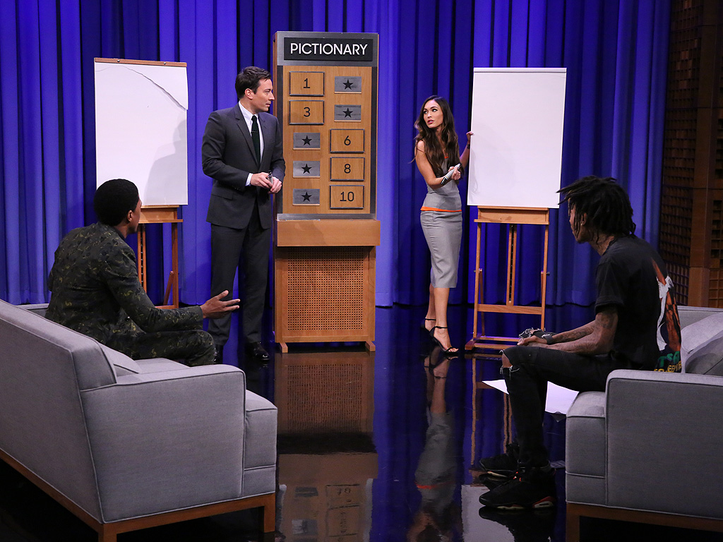 Megan Fox Plays Pictionary with Wiz Khalifa and Nick Cannon