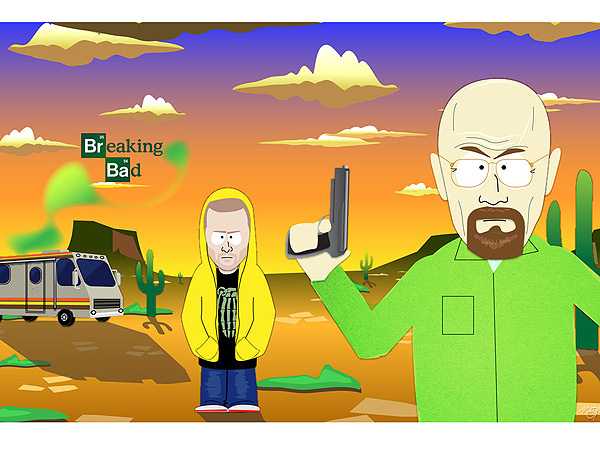 7 Great Pieces of Breaking Bad Fan Art| Primetime Emmy Awards 2014, Breaking Bad, Around the Web, Aaron Paul, Anna Gunn, Bryan Cranston