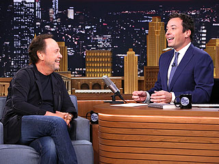 WATCH: Billy Crystal and Jimmy Fallon Flip Lips for Goofy Banter