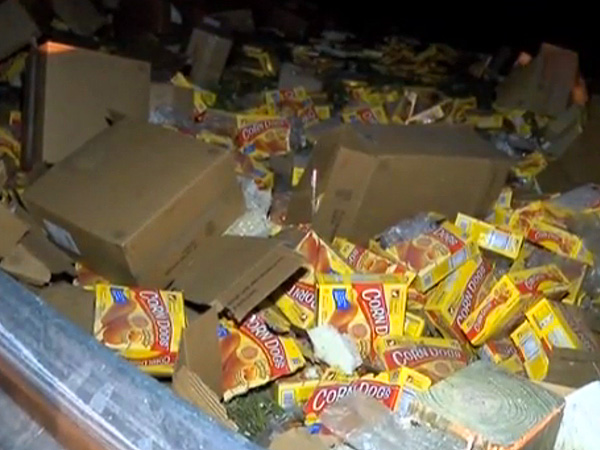 Louisiana Truck Crash Spills 75,000 Corn Dogs Across Interstate 220