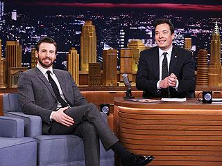 Chris Evans Reveals Captain America Workout Routine – with Ribbon Twirling   Chris Evans, Jimmy Fallon