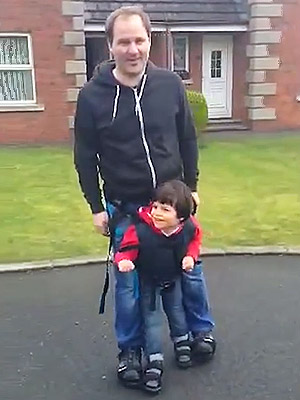 One Mom's Incredible Invention Allows Her Disabled Son to Walk