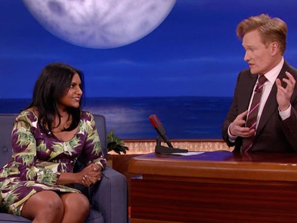 Mindy Kaling Explains Why Her Writing Staff Calls Her a Dictator (VIDEO) | Conan O'Brien, Mindy Kaling