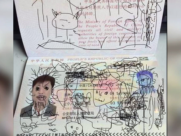 Toddler Draws on Father's Passport, Stranding Him in Korea