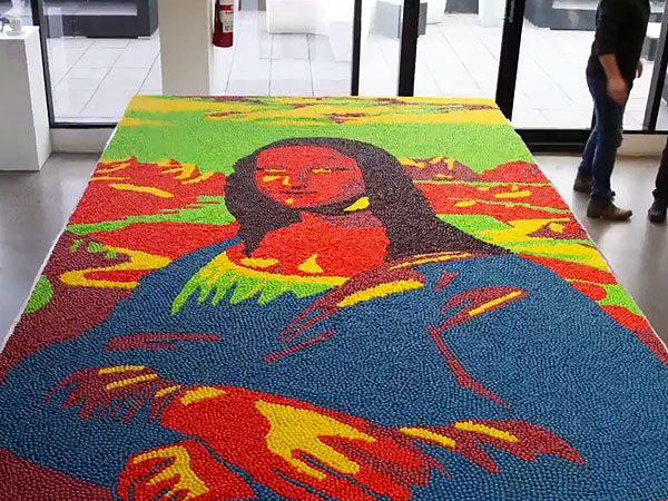 This 22-Square-Foot Mona Lisa Is Made from 50,000 Skittles (VIDEO)