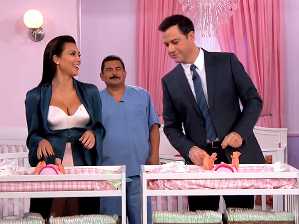Jimmy Kimmel Challenges Kim Kardashian to a Diaper-Changing Contest