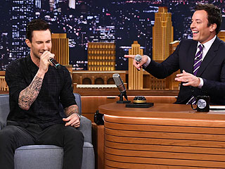 See Adam Levine Impersonate Frank Sinatra and Michael Jackson on Tonight Show | Adam Levine, Jimmy Fallon