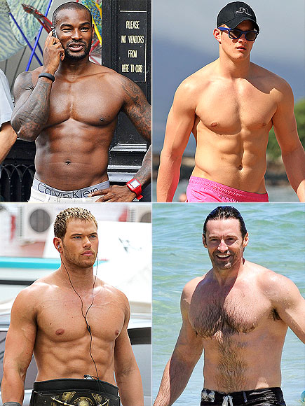 ABS photo | Alexander Ludwig, Hugh Jackman, Kellan Lutz, Tyson Beckford