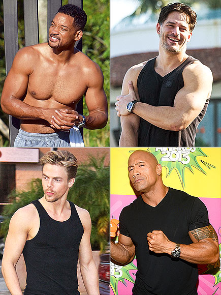 BICEPS photo | Derek Hough, Dwayne Johnson, Joe Manganiello, Will Smith