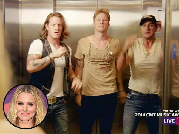 CMT Awards Spoof Jay Z & Solange Elevator Fight | CMT, Florida Georgia Line, CMT Music Awards 2014, Individual Class, Kristen Bell