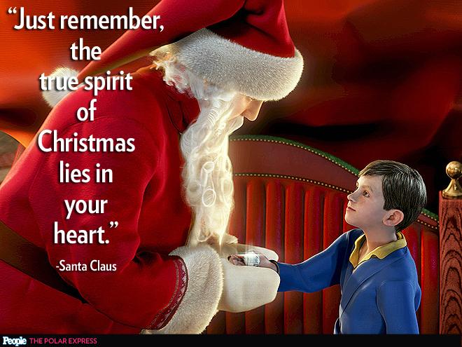 Santa from polar express quotes quotesgram