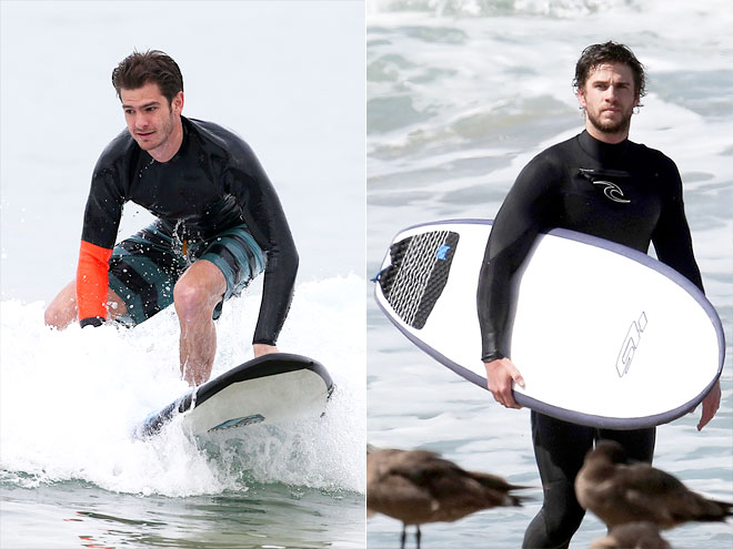 SURFING photo | Andrew Garfield, Liam Hemsworth