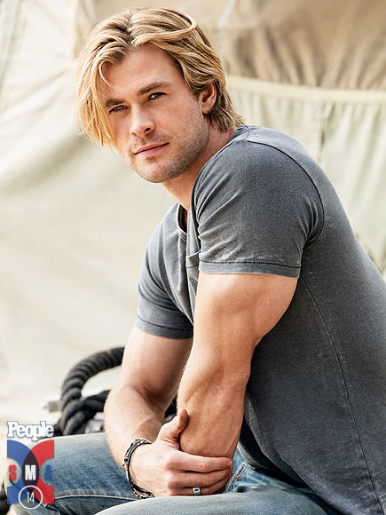 Sexiest Man Alive 2014 Chris Hemsworth Chris Pratt