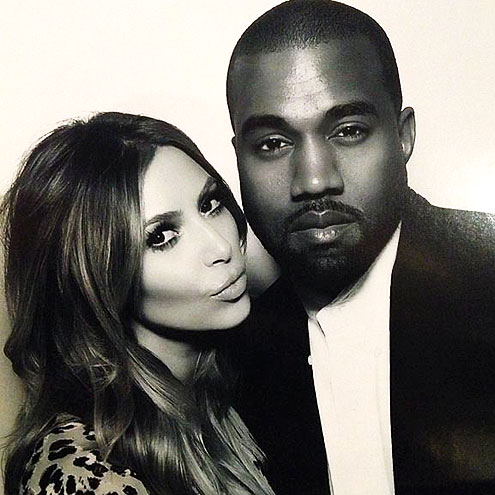 PARTY FAVOR: SELFIE photo | Kanye West, Kim Kardashian