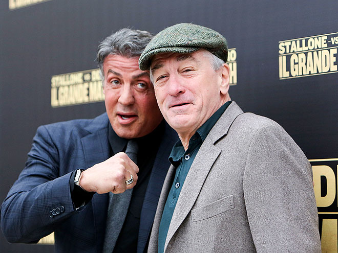 GOT 'EM HOOKED photo | Robert De Niro, Sylvester Stallone