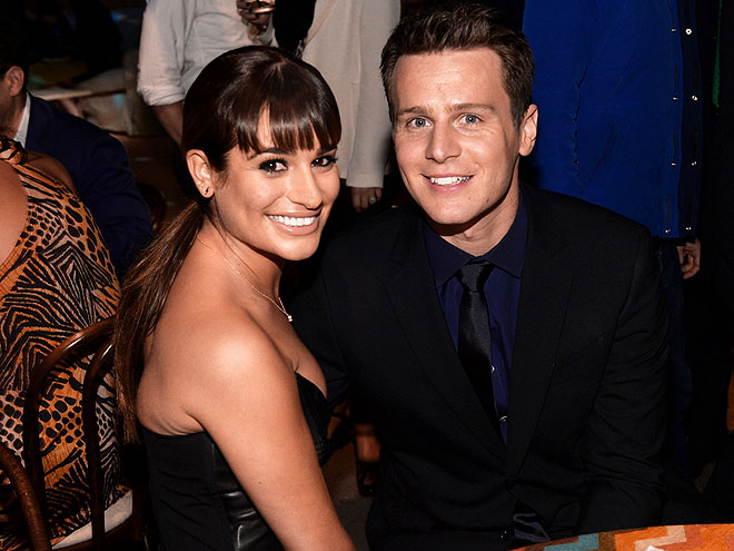 HAPPY TO BE HERE photo | Jonathan Groff, Lea Michele