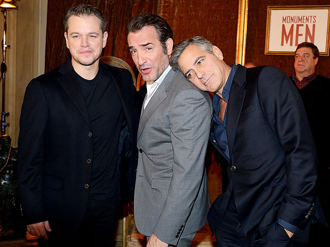 LEAN ON ME photo | George Clooney, Jean Dujardin, Matt Damon