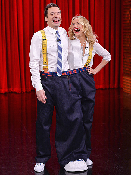 LEGS FOR DAYS photo | Cameron Diaz, Jimmy Fallon