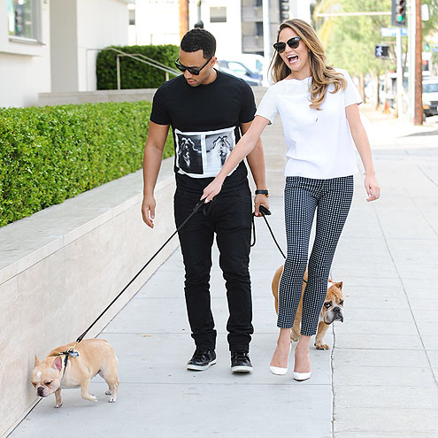 DOG RUN photo | Chrissy Teigen, John Legend