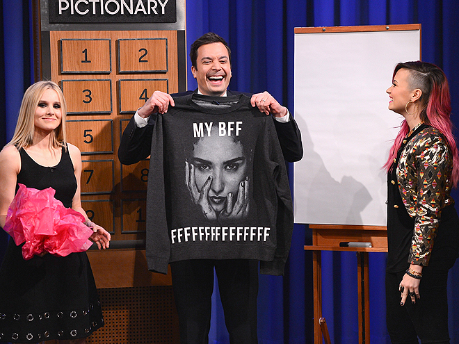 FRIENDS FOREVER photo | Demi Lovato, Jimmy Fallon, Kristen Bell