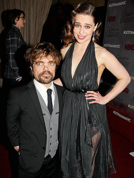 GAME ON photo | Emilia Clarke, Peter Dinklage