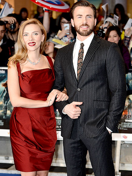 RED-Y FOR ACTION photo | Chris Evans, Scarlett Johansson