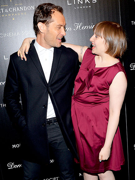 FACE TO FACE photo | Jude Law, Lena Dunham