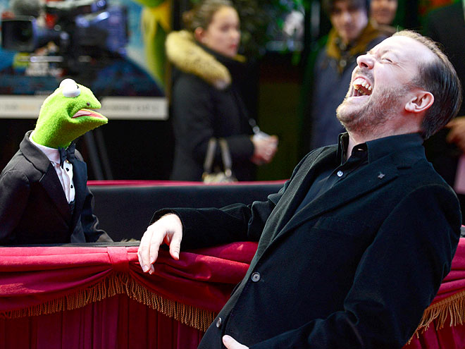 BRITISH HUMOR photo | Kermit the Frog, Ricky Gervais