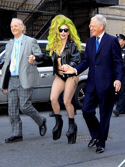THREE'S COMPANY photo | Bill Murray, David Letterman, Lady Gaga