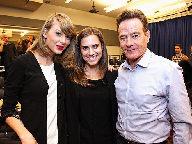 FAMOUS FRIENDS photo | Allison Williams, Bryan Cranston, Taylor Swift