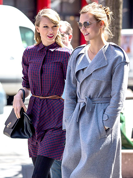 BREAKING A SWEAT photo | Karlie Kloss, Taylor Swift