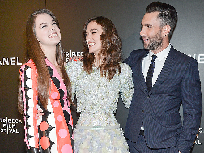 HELLO, AGAIN! photo | Adam Levine, Hailee Steinfeld, Keira Knightley