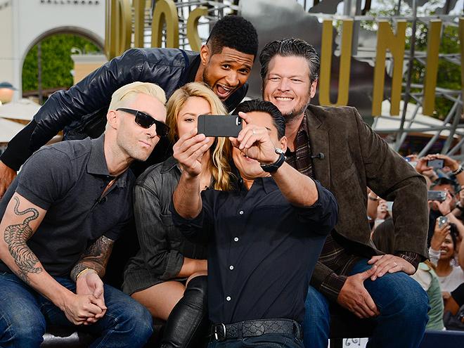 SAY CHEESE! photo | Adam Levine, Blake Shelton, Mario Lopez, Shakira, Usher